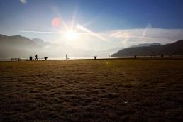 Sport bord du lac d'Annecy