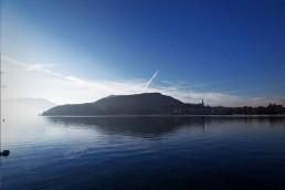 Paysage bord du lac d'Annecy