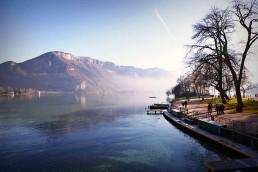 Jardin de l'Europe bord du lac d'Annecy