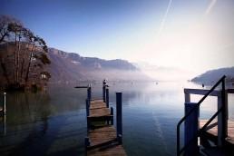 Ponton bord du lac d'Annecy