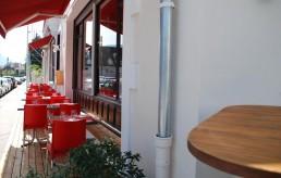 Terrasse du restaurant le bock café à Annecy